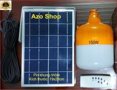 [SỐC] Đèn Bulb năng lượng mặt trời 150W siêu sáng – Hàng Xịn, Tấm pin khung nhôm (Cam)