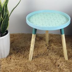 Bàn trà sofa phong cách Nordic gỗ thông tự nhiên 40x40cm