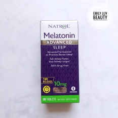 Viên uống hỗ trợ giấc ngủ Natrol Melatonin 10mg 60 viên