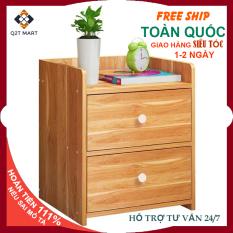 Tủ đầu giường 2 tầng QTĐG01- Tủ đầu giường gỗ cao cấp, sang trọng cho phòng ngủ (Kích thước :40x26x32.5cm) – Tab đầu giường gỗ MDF
