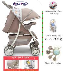 Xe đẩy cao cấp Child Care, gấp gọn xe chỉ bẳng 1 nút xoay Tặng kèm nhiều phụ kiện