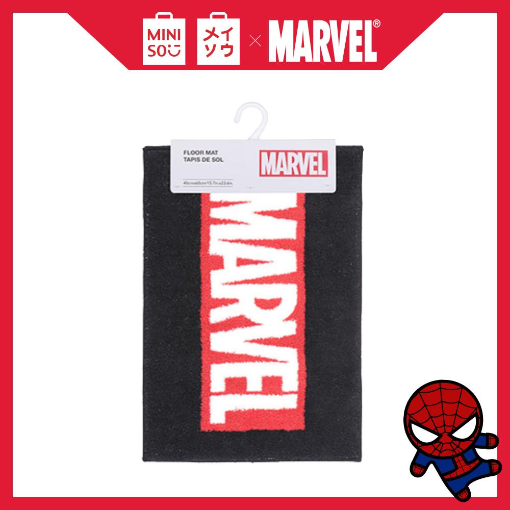 Thảm phòng tắm hình Marvel Miniso (Đen)