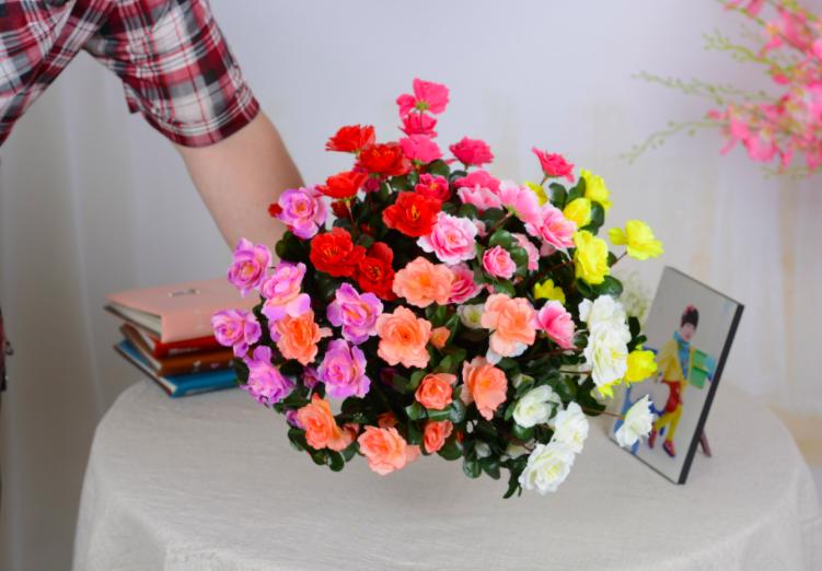 Bông giả – Hoa Giả – Hoa Hồng Đỗ Quyên cực kute – Hoa giả trang trí – HG23