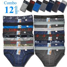 Combo 12 Quần Lót Nam cao cấp | quần xì nam | quần xịp, sịp nam | nhiều lưng | vải cotton 2 chiều | hiệu CITYMEN | lưng lớn | cạp to | kiểu brief | tam giác truyền thống | đồ lót nam