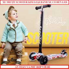 Xe trượt Scooter cao cấp 3 bánh Phát led phát sáng cho trẻ từ 3- 14 tuổi chăc chắn an toàn khiến các bé thích thú, có thể gấp gọn tiện lợi