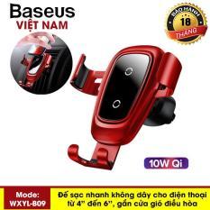 Sạc không dây cao cấp trên xe hơi Baseus công suất 10W cho iPhone XS Max XR Samsung S9, Note 9 hỗ trợ sạc nhanh và giữ chắc điện thoại thông minh – Phân phối bởi Baseus Global