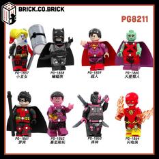 PG8211 – Đồ chơi lắp ráp minifigure nhân vật lego siêu anh hùng Deathstroke, Martian Manhunter, Flash của DC