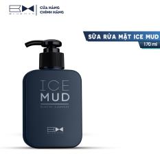 Sữa Rửa Mặt Nam Than Hoạt Tính Giúp Ngừa Mụn & Trắng Da [ Ice Mud BLUEMAN 170ml]