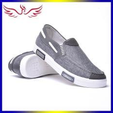 Giày Lười Nam Siêu Bền Màu Xám AeShin – Q18