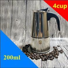 Ấm pha cà phê 200ml moka pot express 4 tách – Ấm pha cà phê 200ml inox