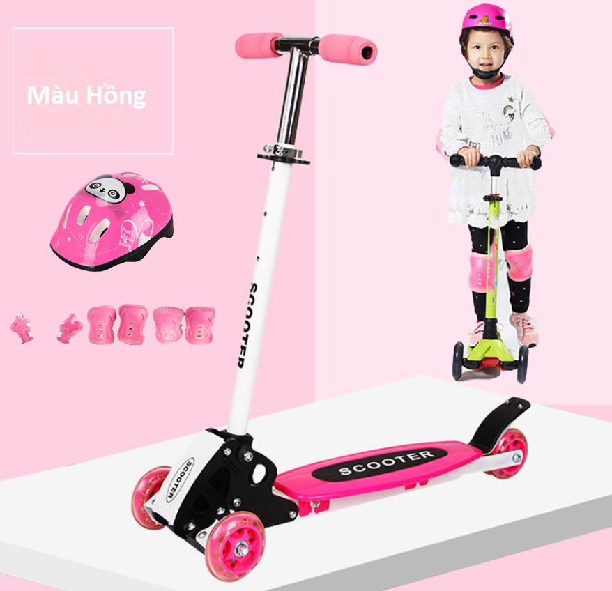 ( LOẠI XỊN ) Xe Trượt Scooter Trẻ Em 3 Bánh Tự Động Cân Bằng Có Điều Chỉnh Hướng Thế...