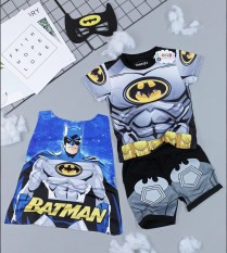 Bộ quần áo siêu nhân anh hùng Người Dơi (BATMAN) cho bé – Tặng kèm áo choàng và mặt nạ