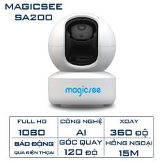 Camera giác sát không dây wifi trong nhà Magicsee SA200 – Xoay 360 độ – Hồng ngoại quay đêm