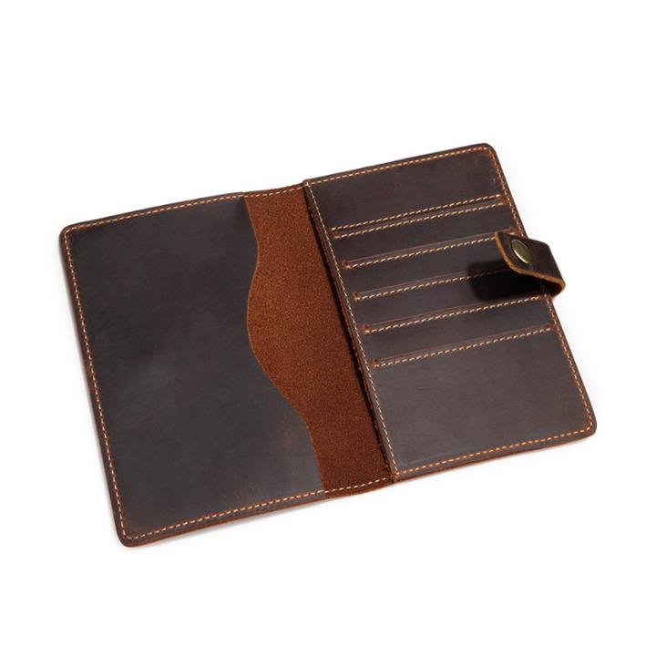 Ví da đựng hộ chiếu, SF053 Kích thước: 10cm x 1.5cm x 14.5cm chất liệu da thật 100% ( Màu đen)
