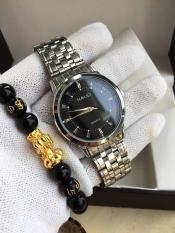 đồng hồ nam halei,dây bạc mặt đen,sang trong và đẳng cấp người đeo