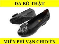 Giày cao gót 5cm da bò thật 5P10AZ (Đen)