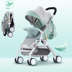{Trọng tải 45kg} Xe đẩy em bé gấp gọn siêu nhẹ 3 tư thế, stroller baby, chất liệu hợp kim nhôm với trong lượng chỉ 6kg, mẫu mới nhất (xanh) YOYO