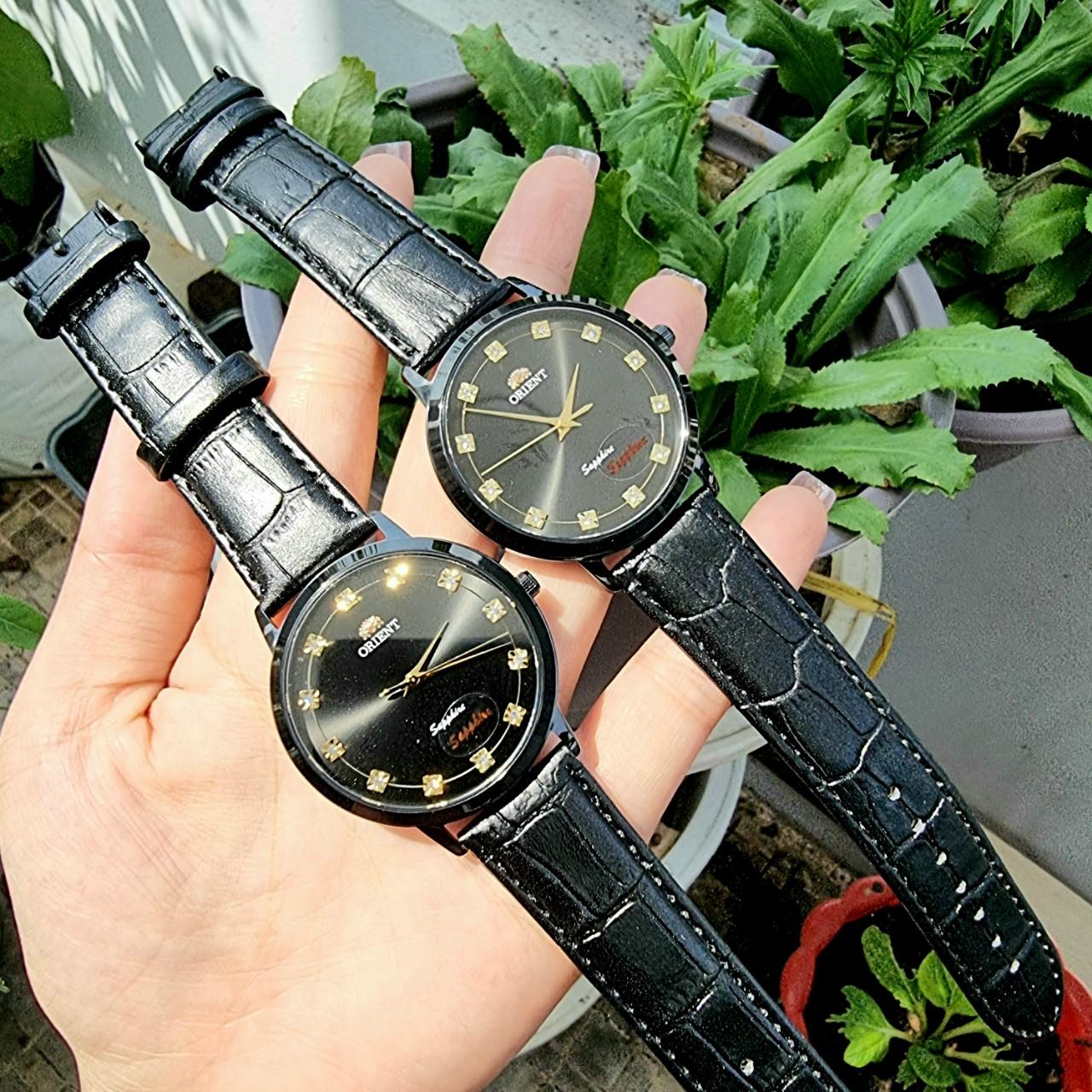 Đồng hồ nam ORIENT mặt kính Saphia chống nước , chống xước cao cấp