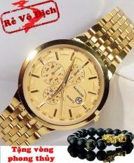 Đồng hồ baishuns nam mạ vàng cao cấp siêu rẻ bền và đẹp
