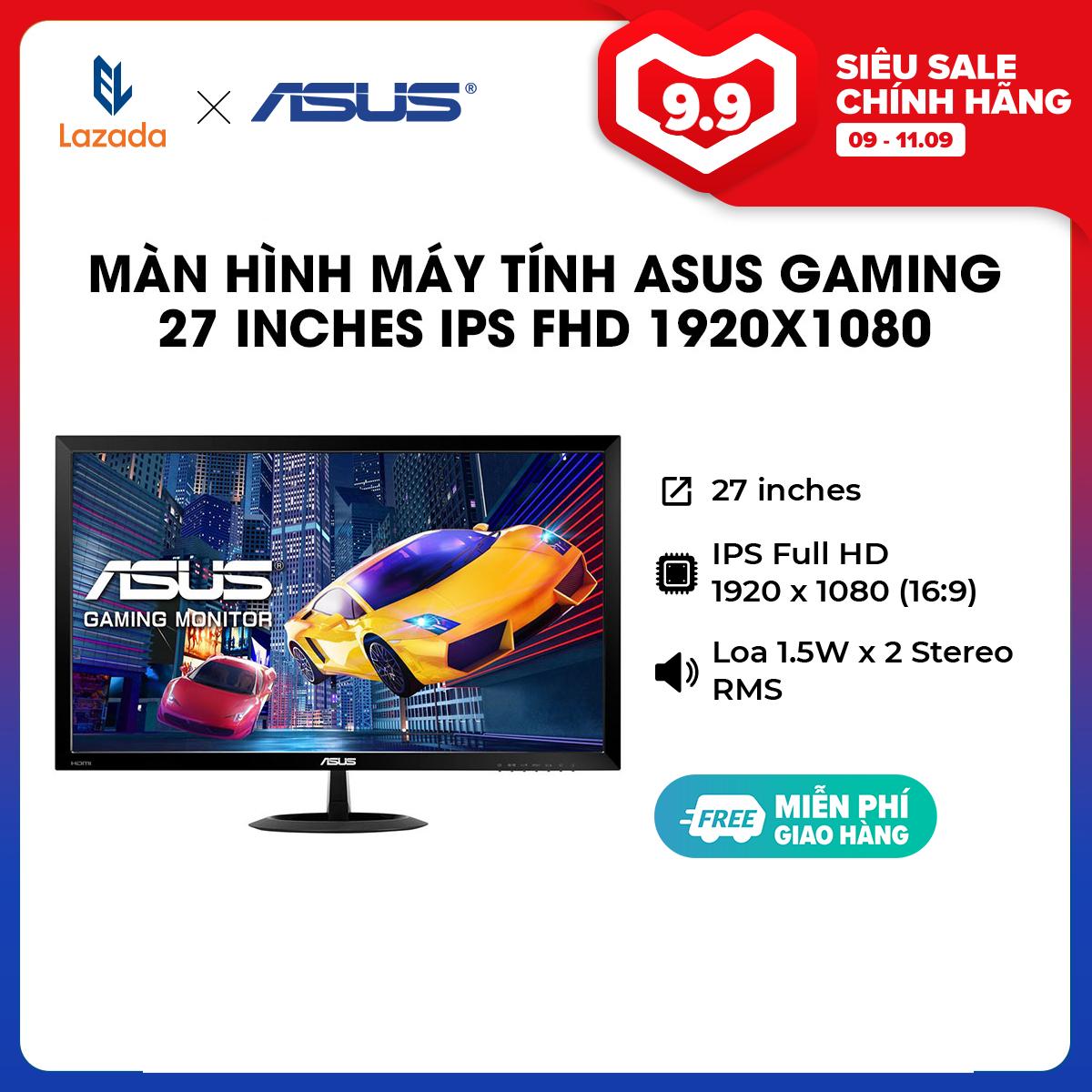 [HÀNG CHÍNH HÃNG] Màn hình máy tính ASUS Gaming 27 inches IPS FHD (1920×1080) 75Hz 1ms l Low Blue Light l Flicker Free l Loa 1.5W x 2 Stereo RMS