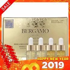 Set 4 chai Siêu tinh chất dưỡng trắng và tái tạo da BERGAMO Luxury Gold Collagen & Caviar 13ml x4