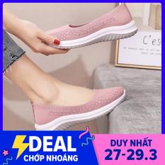 Giày lười nữ, giày đi bộ, giày chạy bộ siêu nhẹ siêu êm phù hợp mọi lứa tuổi- DOZIMAX ( 3 Màu size 35-40)