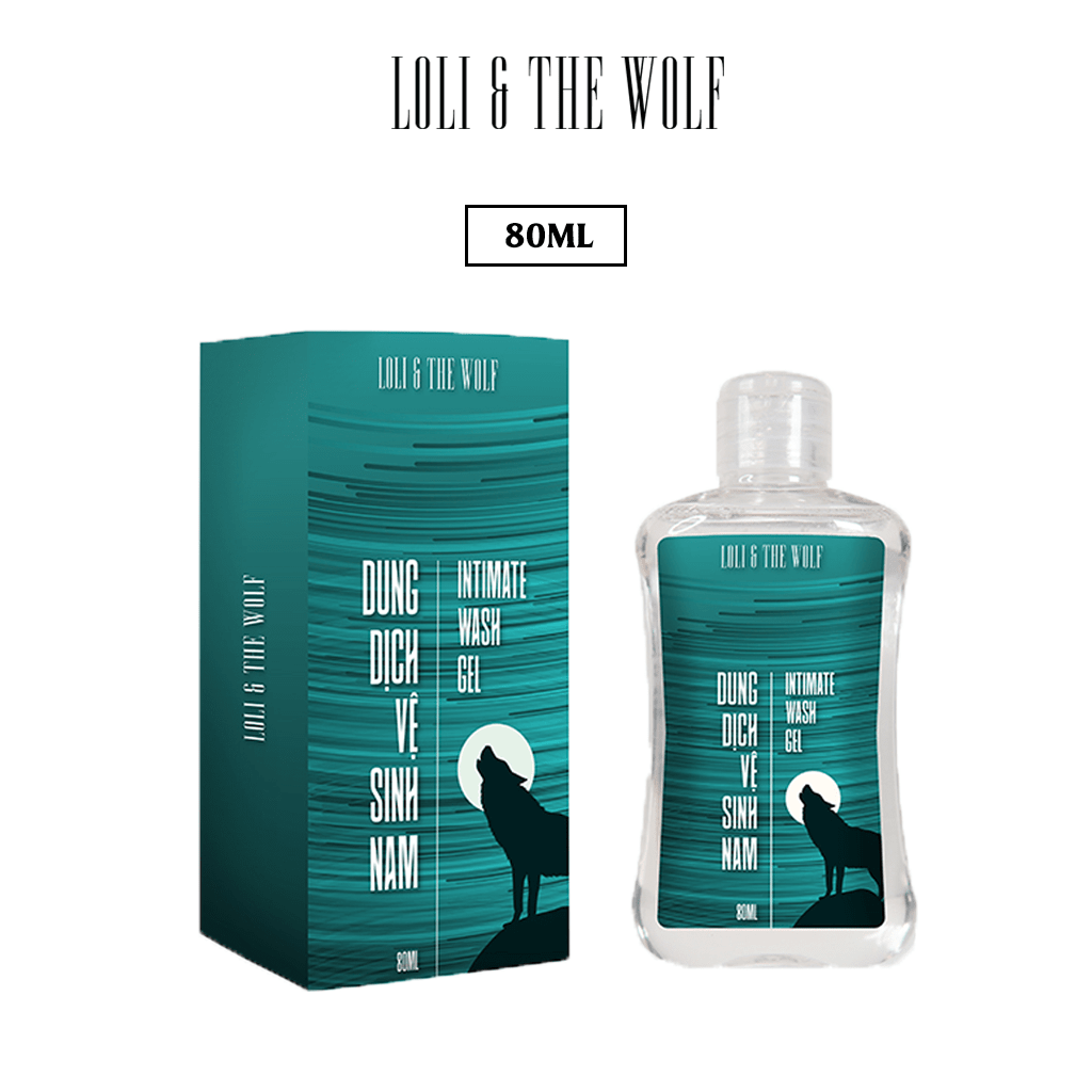 Dung dịch vệ sinh nam giới Loli & The Wolf dạng gel thành phần tự nhiên dịu nhẹ cho vùng kín nam – chai 80ml
