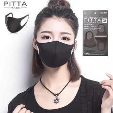 3 khẩu trang Pitta Mask lọc khói bụi lọc khuẩn – lớp lọc bọt khí (màu đen)