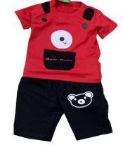 Bộ đồ cho bé trai túi phối hai tai bên vai, Vải cotton co giãn 4 chiều thấm hút mồ hôi cho bé từ 6-26kg.