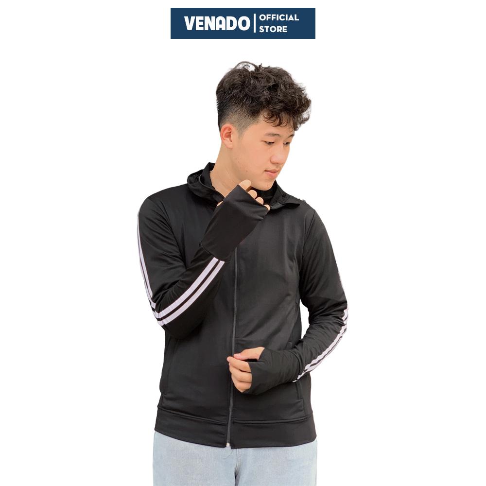 Áo chống nắng nam thông hơi vân sọc thể thao vải kim cương cao cấp Venado áo khoác nắng nam...