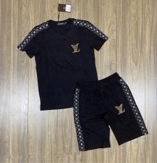 ĐỒ BỘ NAM, BỘ THỂ THAO NAM VL, chất liệu thun lạnh 4 chiều, phong cách thể thao, 2 màu trắng đen, full size M L XL XXL từ 35-90kg