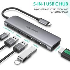 Cáp chuyển đổi 5in1 USB type-C sang HDMI/ Hub USB 3.0 Ugreen 50209 chính hãng