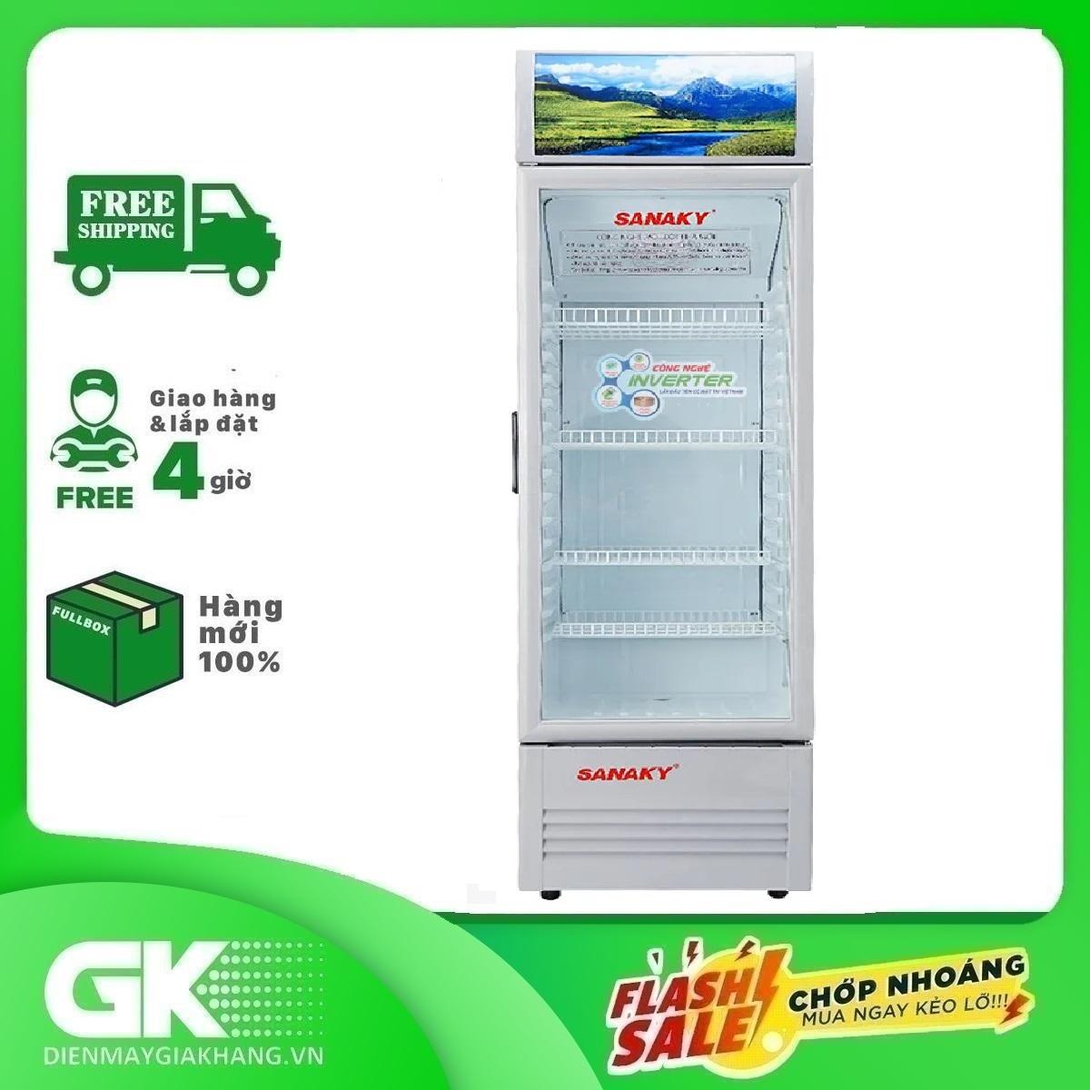 Tủ mát Inverter Sanaky VH-408K3L 400 lít, kính hai lớp chịu lực, có khóa an toàn, lớp thành tủ dày...