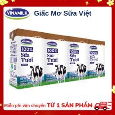Thùng 48 Hộp Sữa tươi tiệt trùng Vinamilk 100% Sôcôla 110ml
