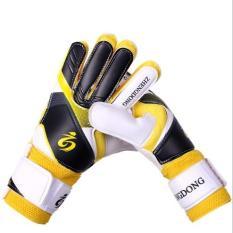 Găng tay thủ môn có xương bảo vệ màu vàng phối đen siêu bền siêu đẹp