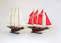 Combo 2 thuyền Atlantic 30cm (Màu đỏ và Màu trắng)