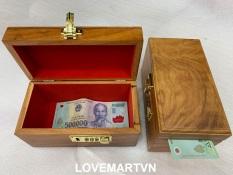 Hộp đựng tiền tiết kiệm, đựng nữ trang gỗ Hương có khóa số