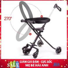 [SIÊU HOT TẶNG KÈM GIỎ] Xe đẩy em bé tối giản cao cấp 5 bánh có thể gấp gọn dành cho bé yêu, xe day trẻ em 2 chiều- MBPHUNG34