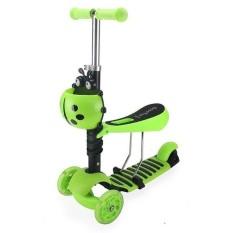 Xe trượt Scooter hình bọ cánh cứng ghế có thể điều chỉnh và bánh xe đèn LED flash