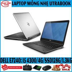 LAPTOP UTRABOOK Dell 7240 Core i5 4300U, Ram 4G, SSD 128G, Màn 12.5IN, nặng 1.3kg , siêu mỏng nhẹ