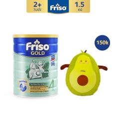 [Thu thập voucher giảm thêm 30K] Sữa bột Friso Gold 4 1.5kg cho trẻ từ 2-4 tuổi – Tặng Gối ôm Trái Bơ trị giá 150K