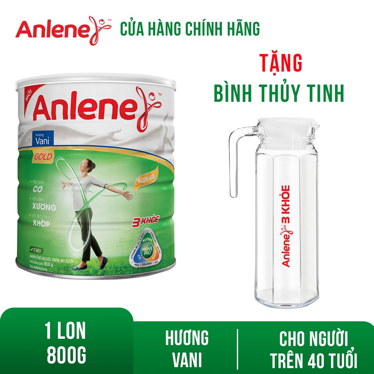 Lon sữa bột Anlene Gold Movepro Vanilla 800g Tặng Bình nước