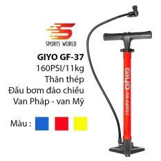 Bơm xe đạp, xe gắn máy 160psi/11Kg GIYO GF-37 Thân thép, đầu bơm đảo chiều