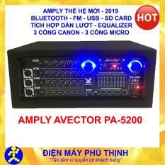 PHÚ THỊNH – Amply karaoke bluetooth – amply sân khấu – ampli karaoke gia đình hát hay AVECTOR PA-5200 BLUETOOTH