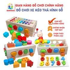 Đồ Chơi Gỗ Thông Minh Cho Bé, Xe Kéo Thả Hình Cho Bé Vừa Chơi Vừa Học Về Hình Khối Và Số Đếm, Đồ Chơi Đàn Xylophone, Đồ Chơi Montessori