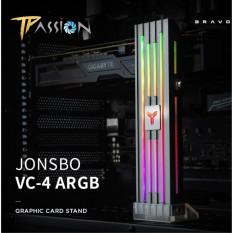 Giá đỡ VGA Jonsbo VC-4 ARGB – Hiệu ứng LED Addressable RGB màu rainbow rực rỡ, cây chống card màn hình thép chắc chắn