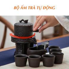 Free.Ship Bộ ấm trà tự động rót khi xoay bằng gốm