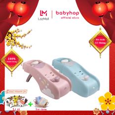 Ghế gội đầu Babyhop thiết kế 2 màu Xanh/Hồng cho bé từ 5 tháng đến 12 tuổi cỡ đại, có thể chịu lực đến 75kg có tay vịn, 3 nấc điều chỉnh, gấp gọn dễ dàng khi không sử dụng – Ghế gội đầu