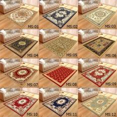 Thảm nhung 3D trải sàn phòng khách KT 1m4x2m nhiều mẫu họa tiết cổ điển TRANGTRIDECOR phòng ngủ chất lượng sofa fur carpet