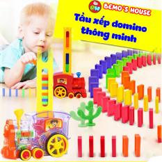 [SIÊU HÈ KHUYẾN MÃI]Đồ chơi thông minh cho bé, tầu hỏa xếp hình domino,tàu hỏa đồ chơi, đồ chơi bé trai